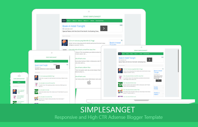 SimpleSanget high CTR adsense blogger template