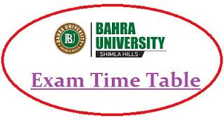 Bahra University Exam Date Sheet 2020