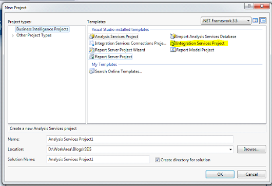 Getting started with SSIS