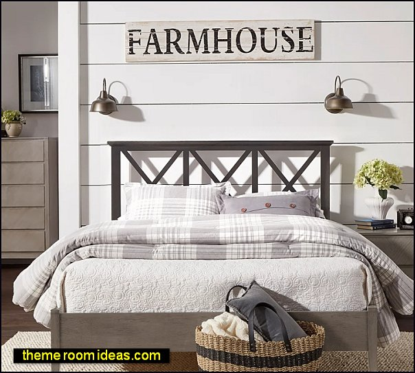 Antique Finish Lattice Pattern Platform Bed modern farmhouse bedroom furniture