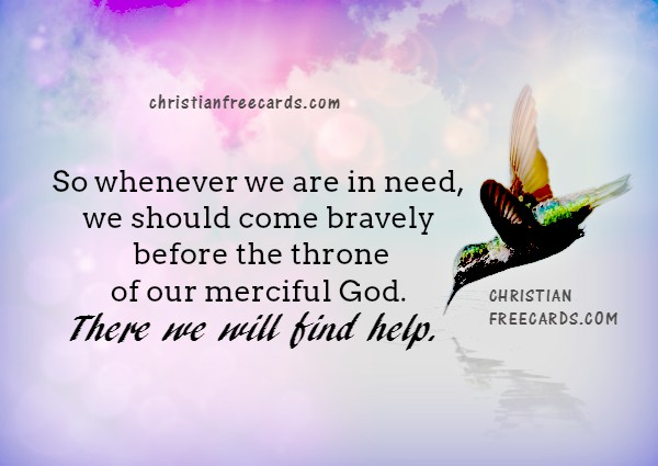 Christian quotes with bible verse about God's help. Free christian card, Mery Bracho image and meditation.