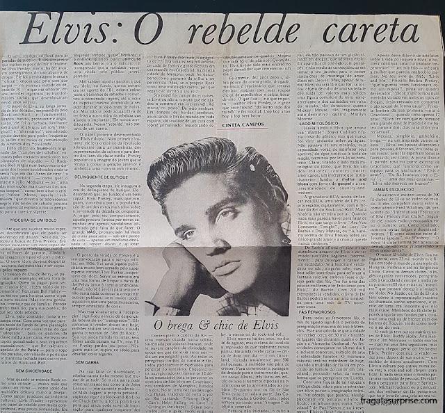 Artigo sobre Elvis Presley na Tribuna da Bahia