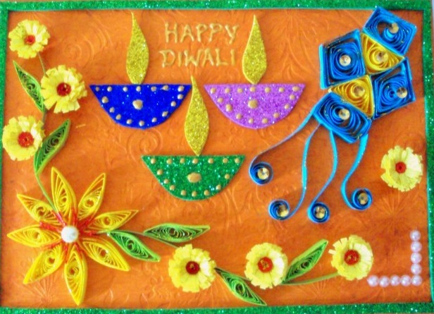 Diwali Cards Ideas For Kids'
