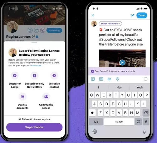 Twitter Super Follows and Ticketed Spaces Test Application Is Now Open