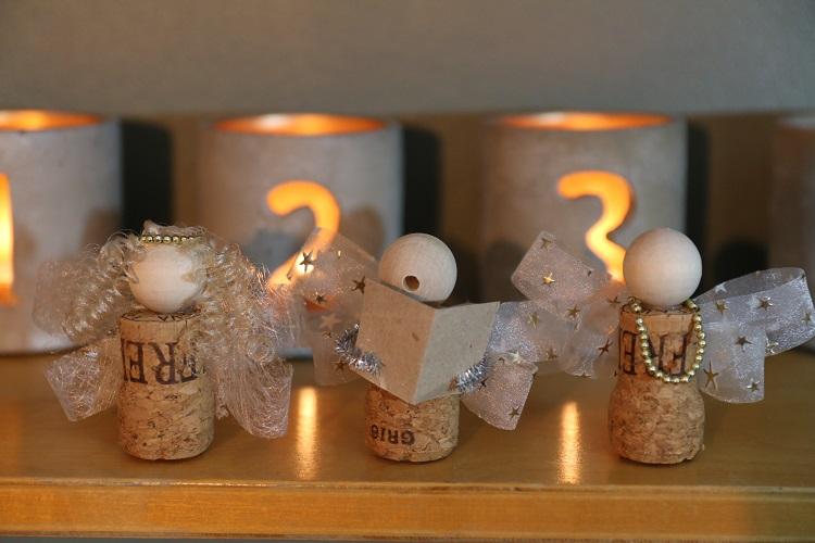 diy viinipullon korkki askartelu, korkkiaskartelu, korkkienkeli, wine cork angel ornament