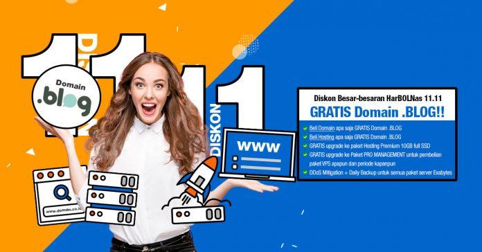 promo beli domain gratis domain .blog