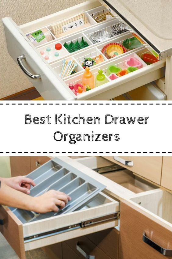 The best kitchen drawer organizers to help you keep your kitchen stress free and decluttered #drawerorganizers