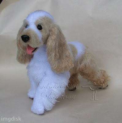 Вязаная собака кокер-спаниель крючком