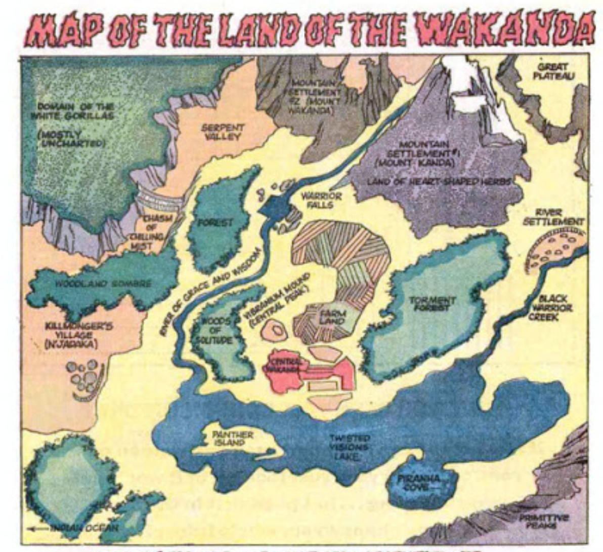 Map Of The Week The Changing Geography Of Wakanda