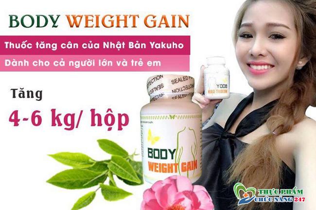review thuốc tăng cân body weight gain giá bao nhiêu tiền
