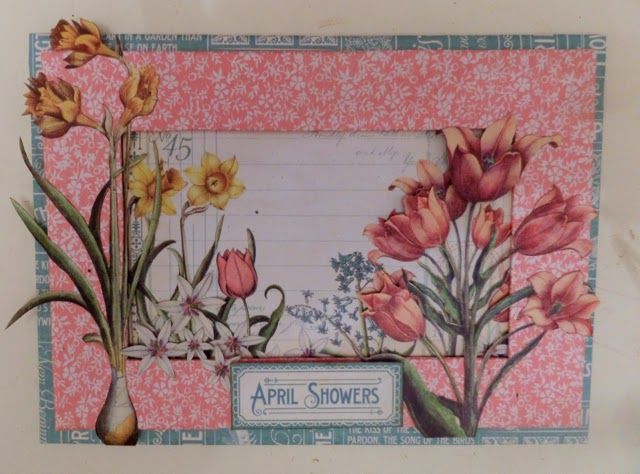 Time To Flourish Decorative Frame April Clare Charvill Jones Crafts Graphic 45