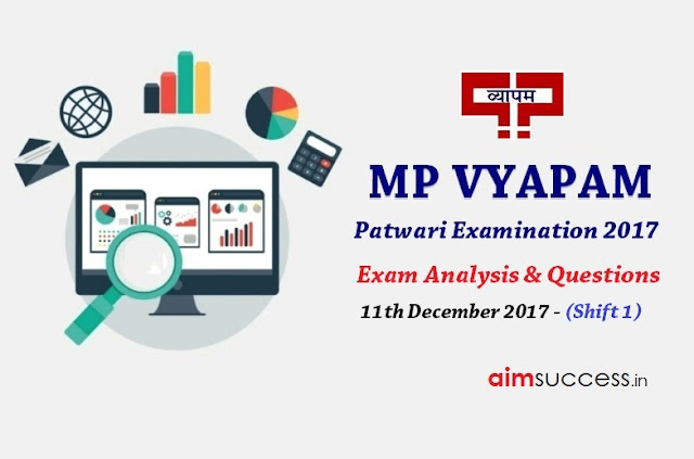 MP Patwari Exam Analysis 2017 - 11th Dec 2017 (Shift 1)