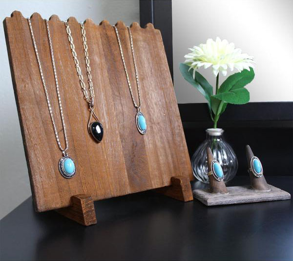 Shop the Wooden Plank Necklace Jewelry Display Stand at NileCorp.com