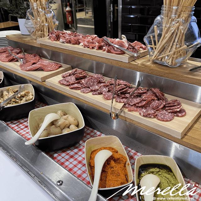 Silja Serenade buffet menu