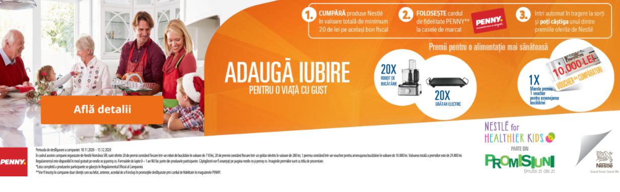 Concurs Nestle si Penny - Castiga un voucher pentru amenajarea bucatarie in valoare de 10000 lei - castiga.net