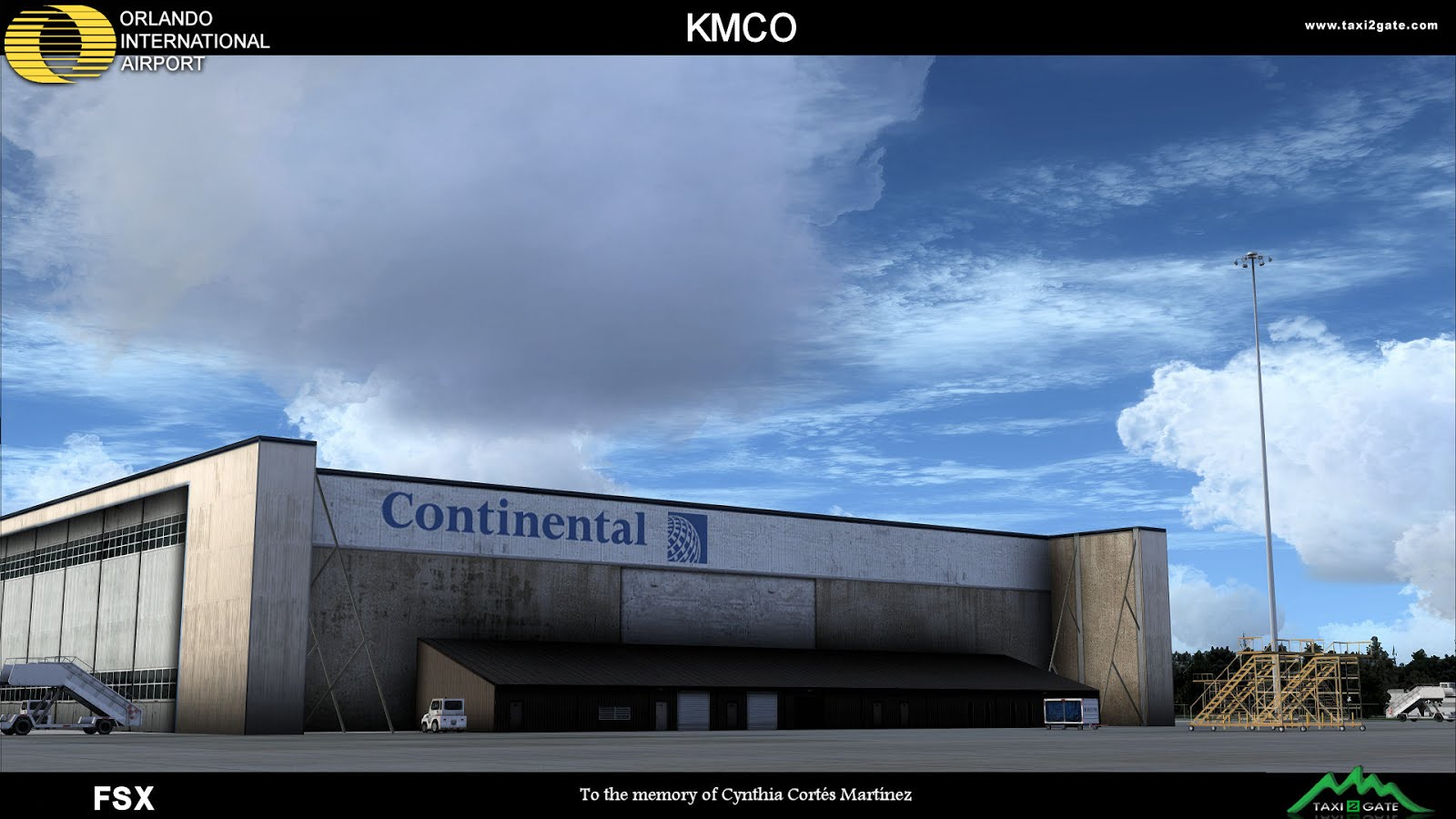 Download Scenery Taxi2Gate Orlando Int  Aiport (KMCO) #FSX