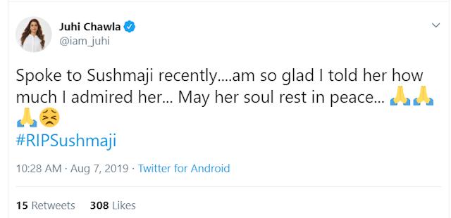 Sushma Swaraj Death Reactions