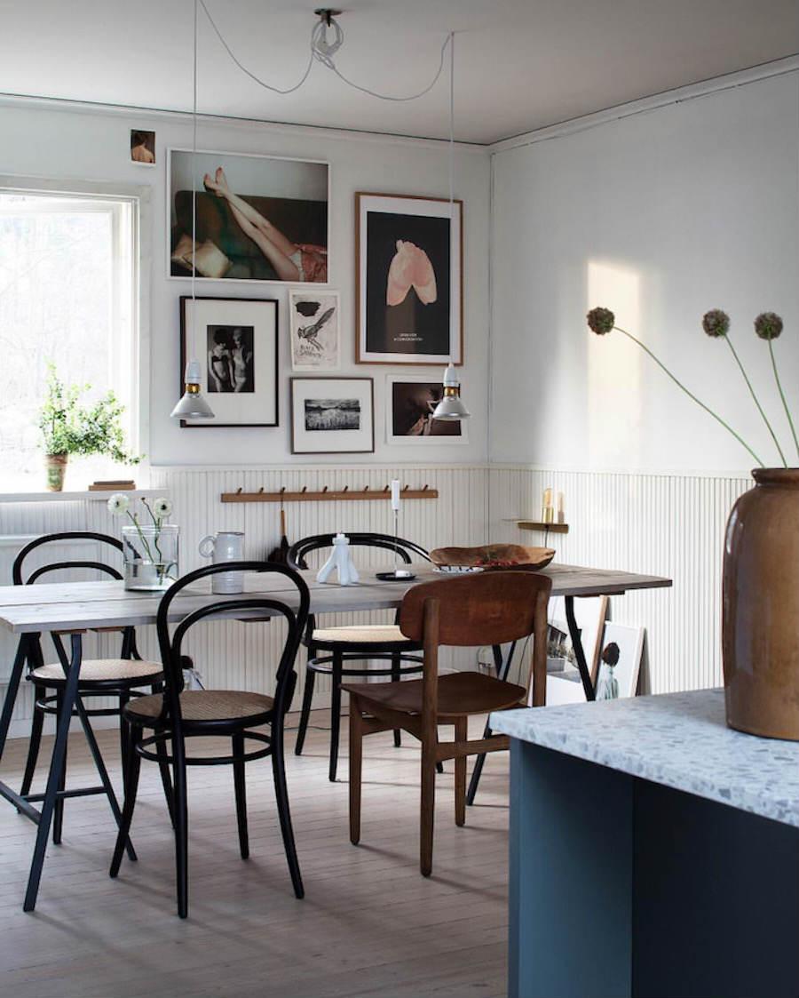 Una casa familiar muy fan del rosa y el verde: Comedor
