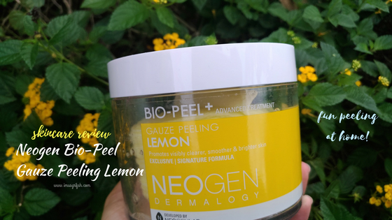 Neogen Bio-Peel Gauze Peeling Pad Lemon Review: Fun Peeling at Home!