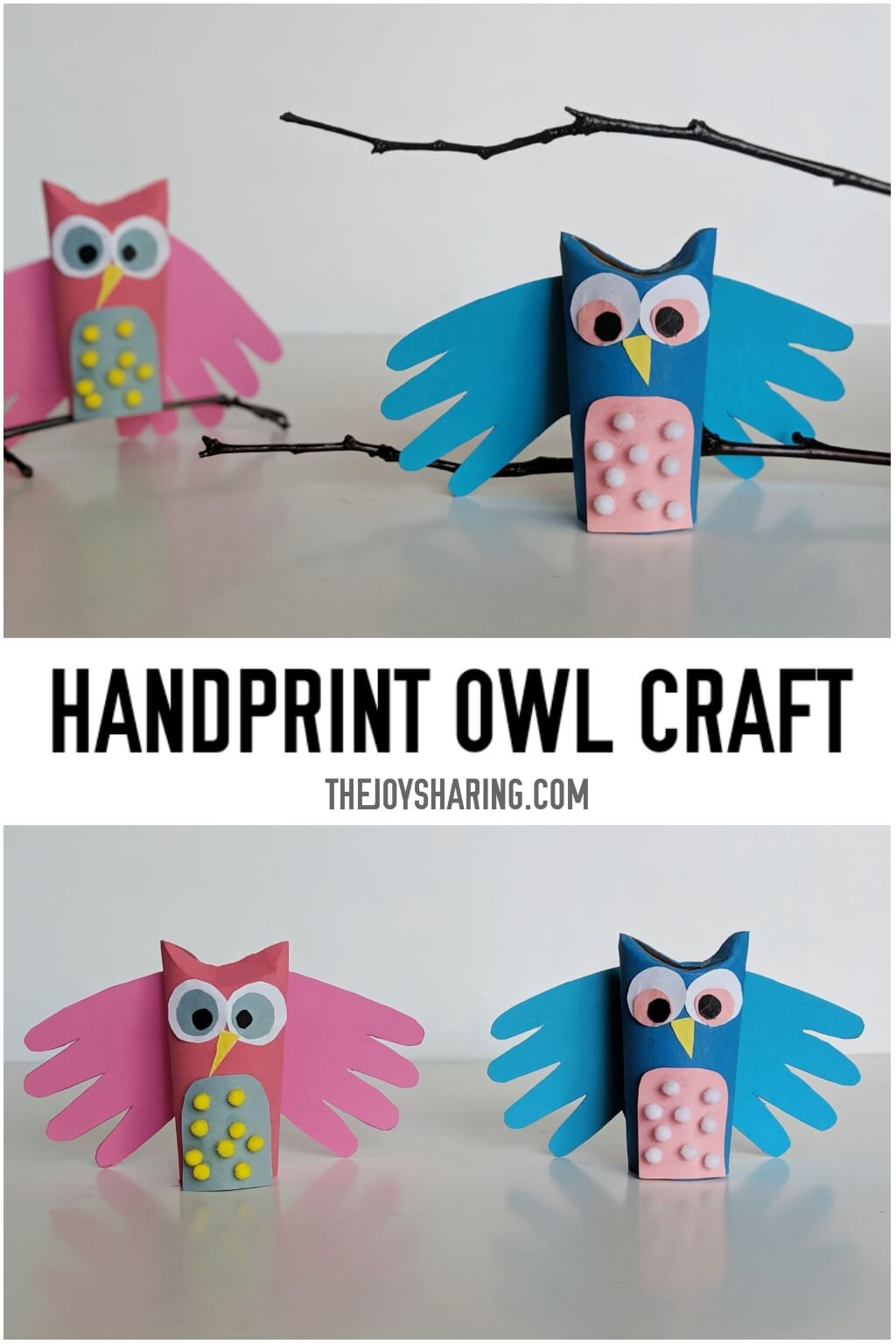 Handprint Owl Craft The Joy Of Sharing