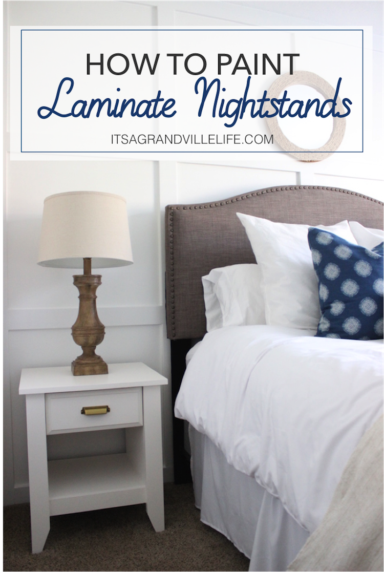 Painting Laminate Bedroom Furniture Its A Grandville Life Laminate Nightstands Makeover