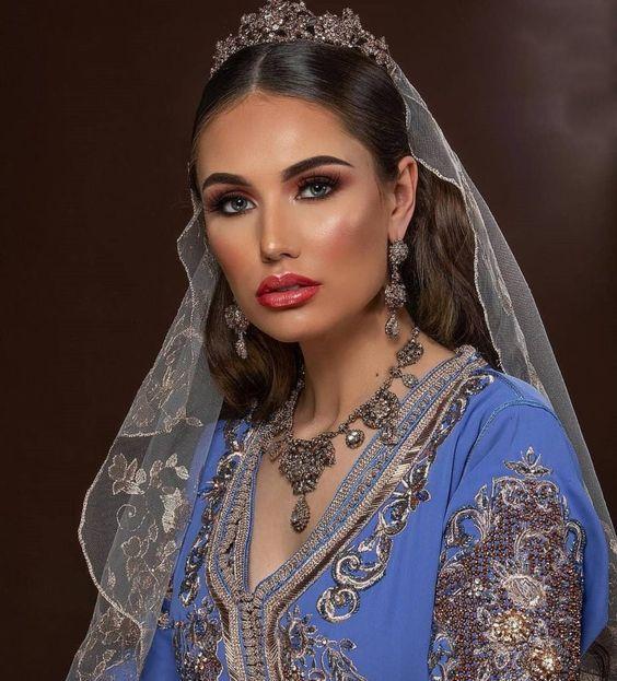 caftan mariage luxe bleu ciel 2020