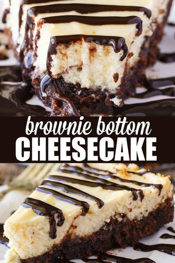 Brownie Bottom Cheesecake