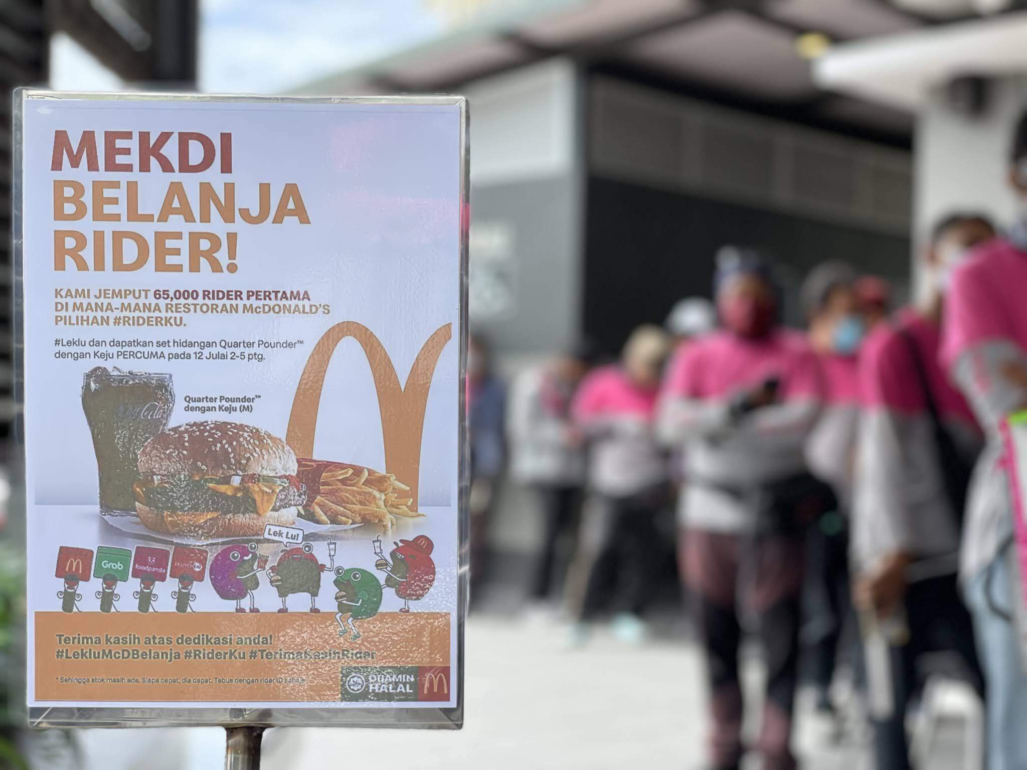 McDonald's Malaysia belanja penghantar makanan