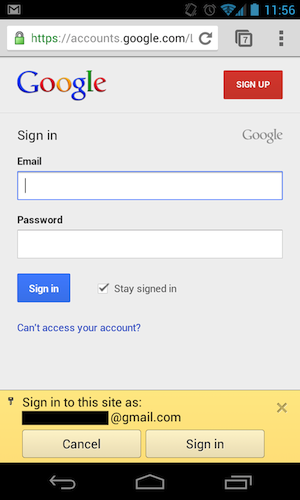 android autologin