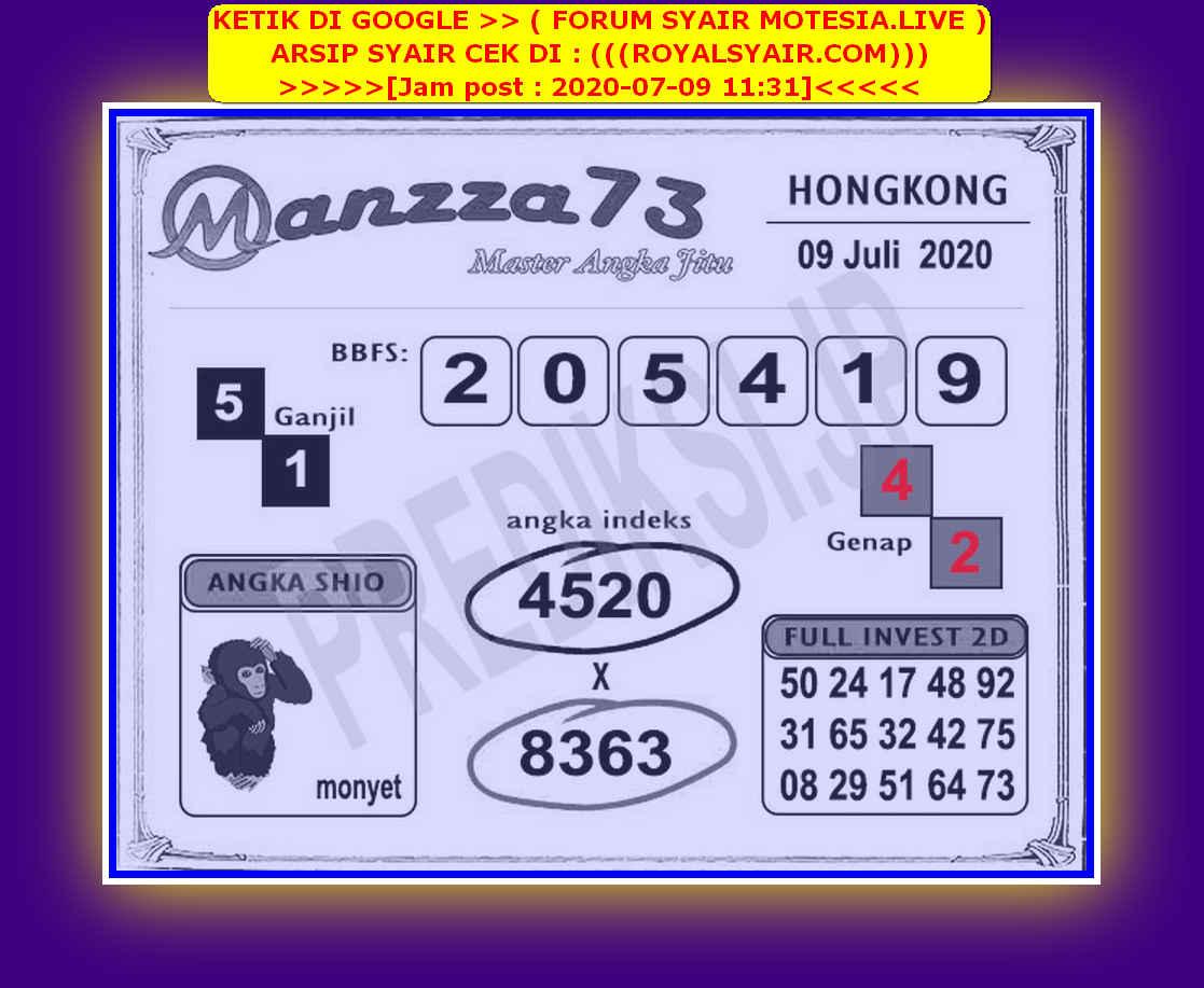 Kode syair Hongkong Kamis 9 Juli 2020 200