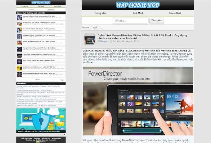 Wap Mobile - Template blogspot responsive load nhanh