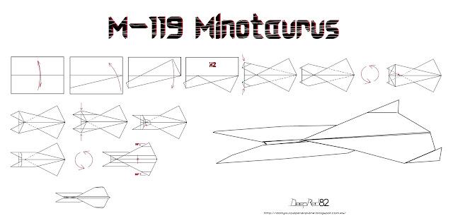 Infografía avión de papel M-119 Minotaurus