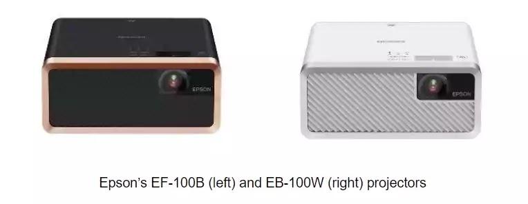 Epson EF-100B and Epson EB-100W