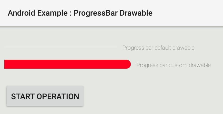 How to use ProgressBar custom Drawable in Android