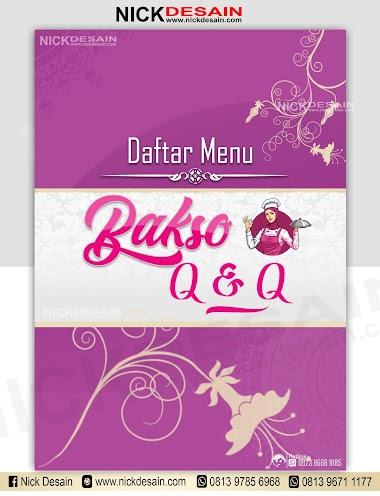 Contoh Desain List Menu / Buku Menu/ Daftar Menu Caffe Bakso | Percetakan Murah Tanjungbalai