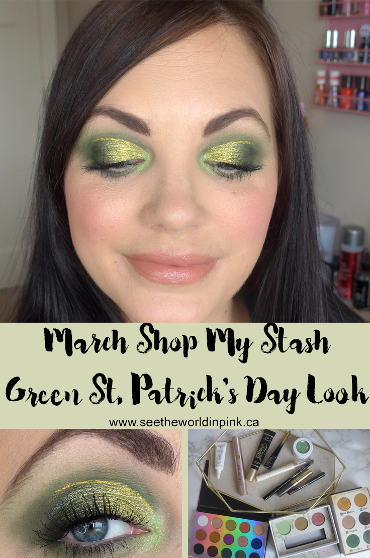 March Shop My Stash - Green St. Patrick's Day Makeup Look