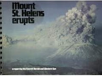 Image: Mount St. Helens Erupts (a report by the Everett Herald and Western Sun), by  Evertt Herald and Western Sun, Ralph Langer. Publisher: Johnson Printing Inc.; First edition (1980)