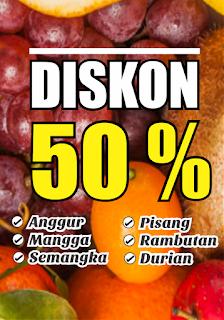 Banner Diskon Buah