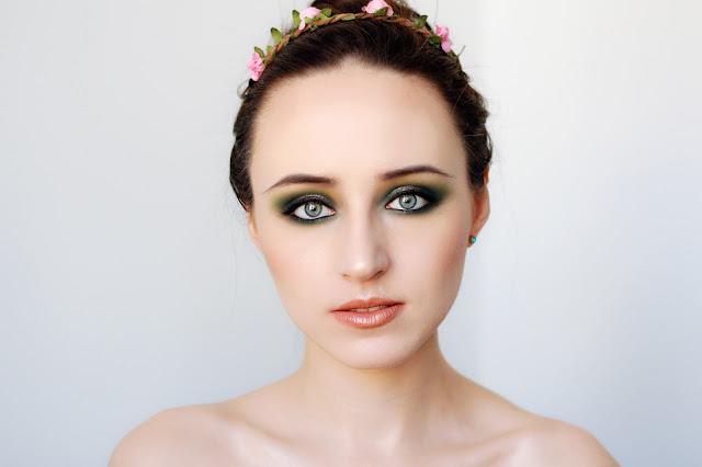 Makijaż wiosenny zielony