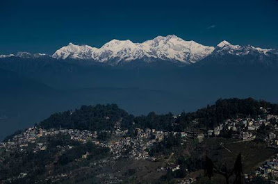 Darjeeling is located at an elevation of 6,700 ft and is a main town of the Sadar subdivision