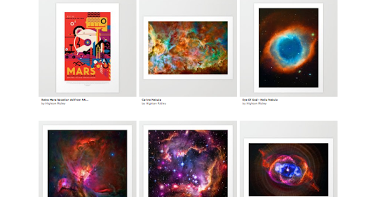 Live-print catalogs of your Society6 stuff with Nifty, each with a QRCode