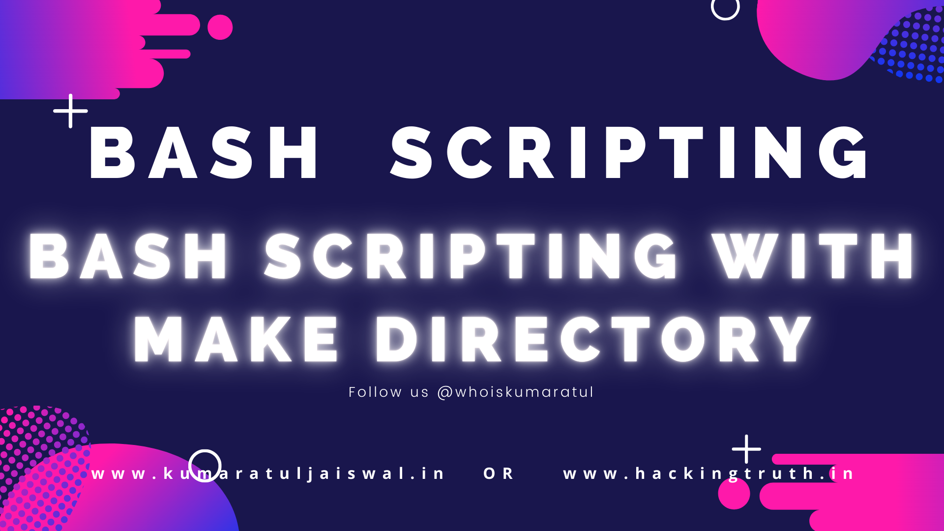 Bash Scripting with make directory