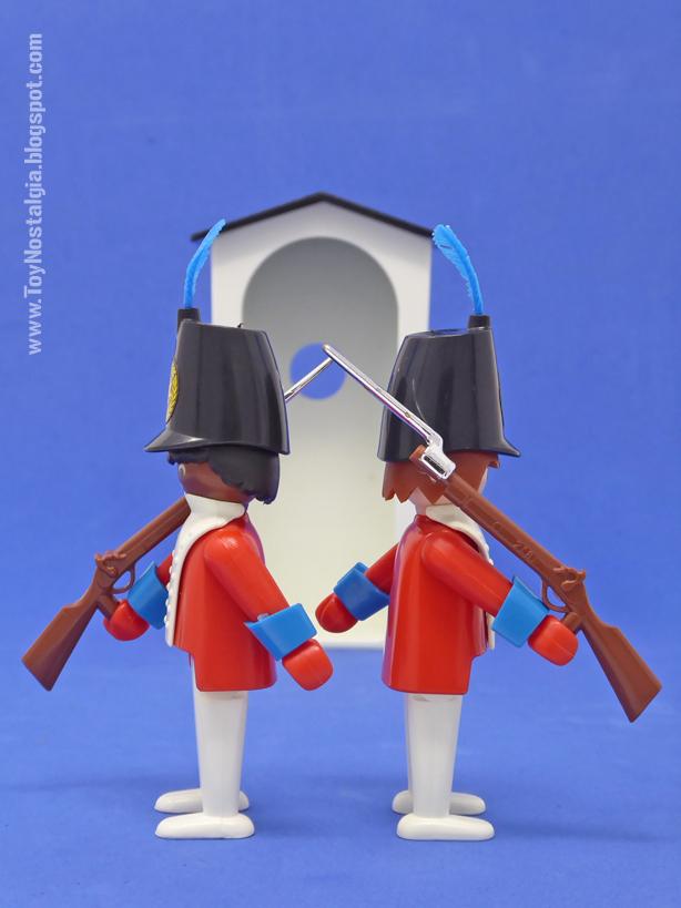 Playmobil 3544, cambio de guardia frente a garita  (Playmobil 3544 - redcoats)