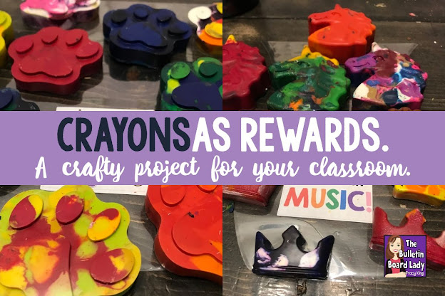 An inexpensive idea for classroom rewards is creating your own cool crayons from old ones.  Students, teachers and principals love them!