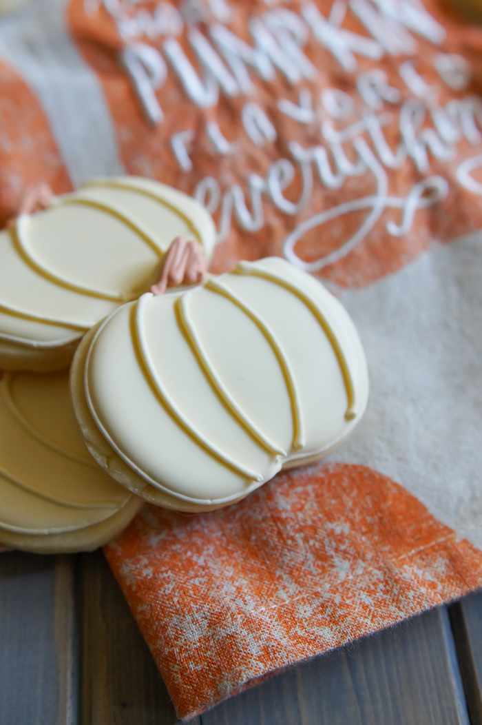 brown sugar and spice cut-out pumpkin cookies