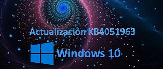 actualización KB4051963 para Windows 10