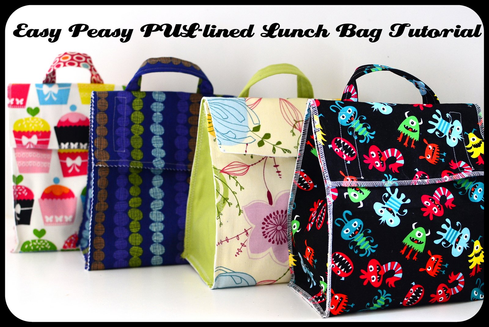 Lovely Jane of all Trades: Easy Peasy PUL-lined Lunch Bag GC32