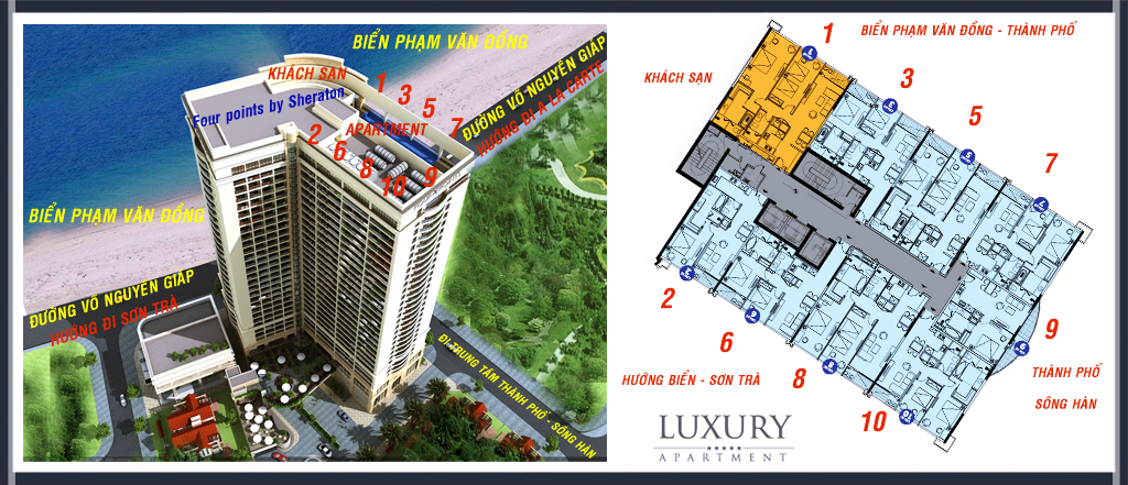 Mặt bằng căn hộ điển hình Alphanam Luxury