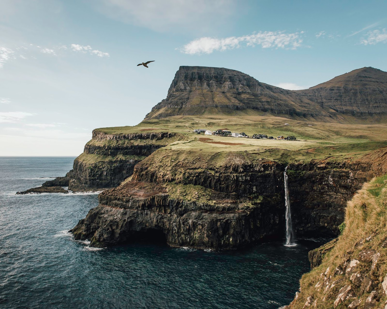 faroe islands mullafossa waterfall liquid grain liquidgrain travel