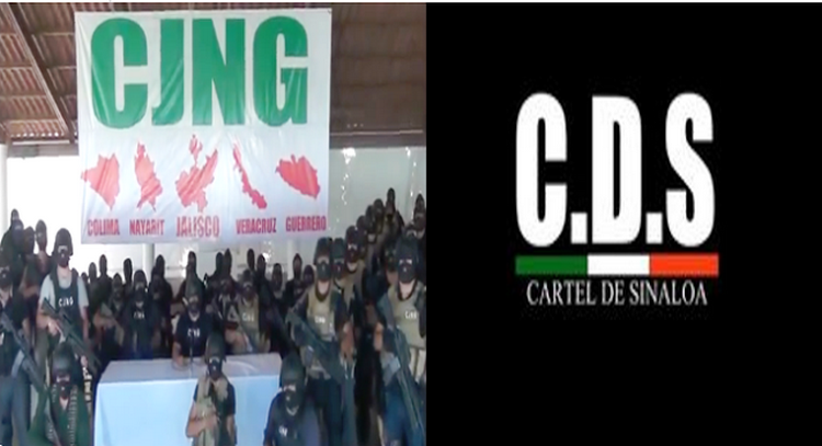 GUERRA DE CARTELES,EL DE SINALOA SE FRACTURA Y EL C.J.N.G DE JALISCO AVENTAJA